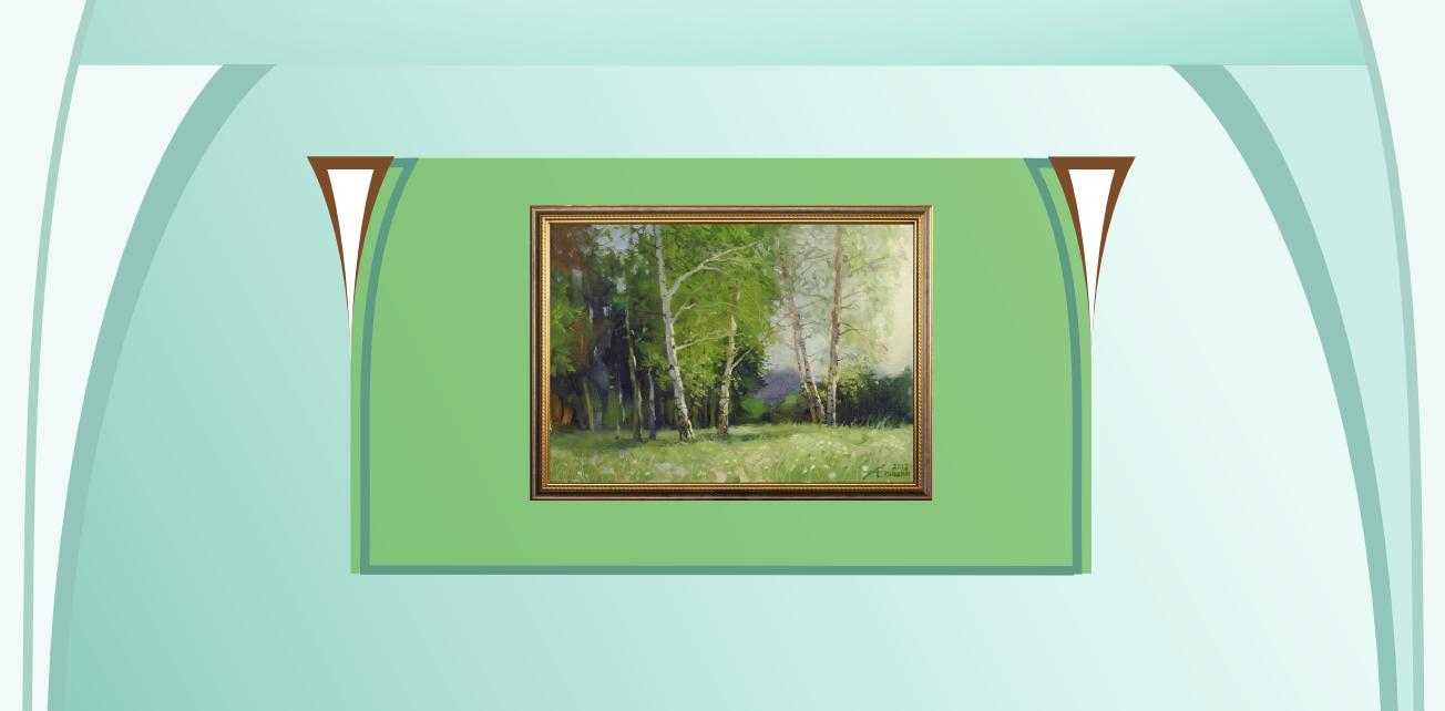 Эскиз №3. Декоративное оформление стены под живопись. Художник Алексей Епишин.