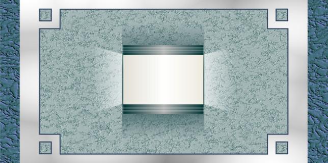 Декоративное оформление стены с светильником в стиле хай-тек
