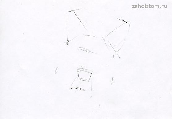 Как рисовать собаку_схема 1