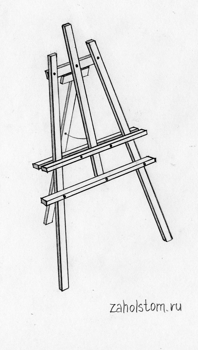 Мольберт своими руками: конструкция самого простого и практичного мольберта