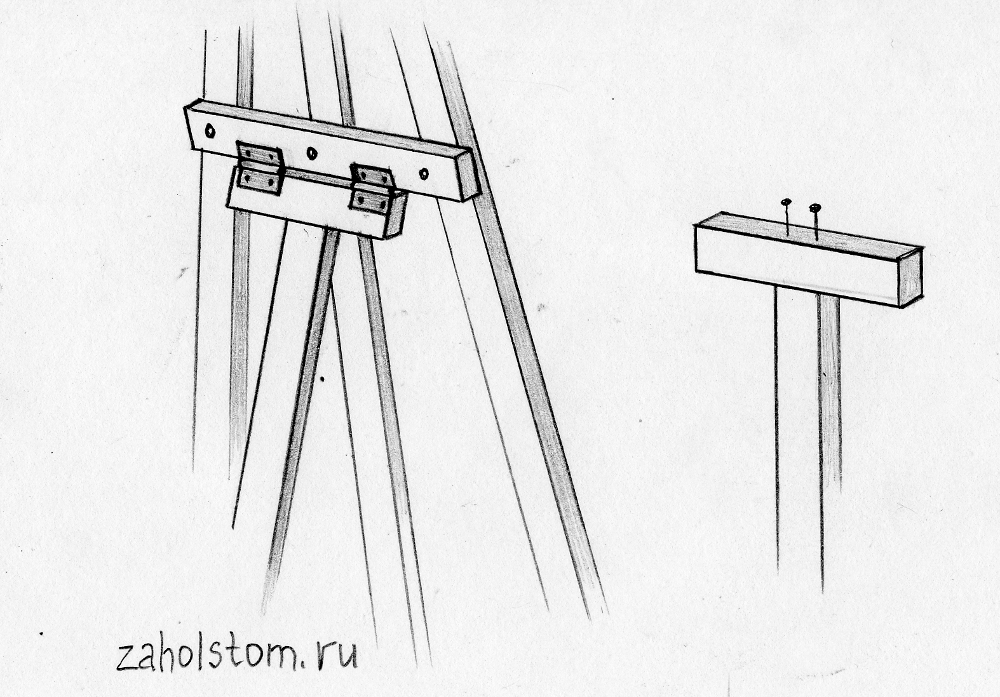 Мольберт своими руками в домашних условиях чертежи 3