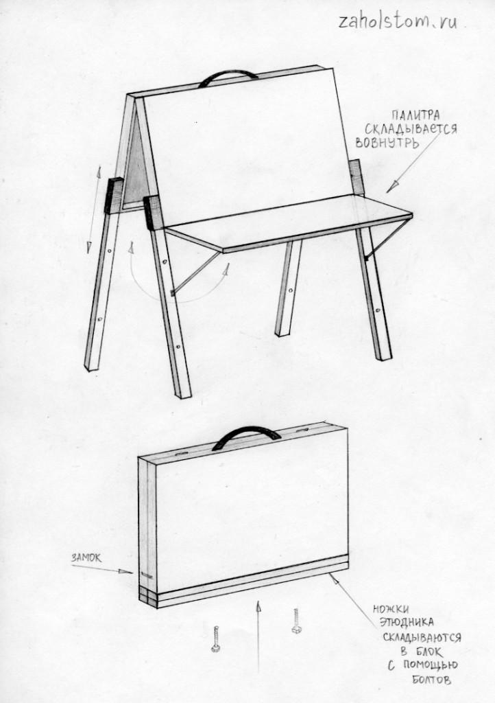 Конструкция мольбертов своими руками 65