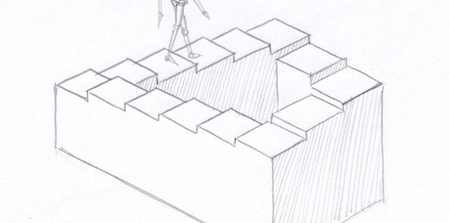 Куда ведет лестница? Иллюзия-загадка