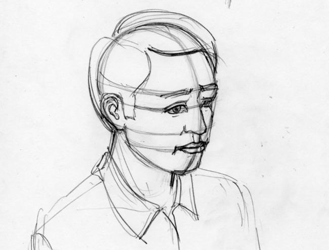 Пропорции в рисунке лица человека_Фрагмент рисунка