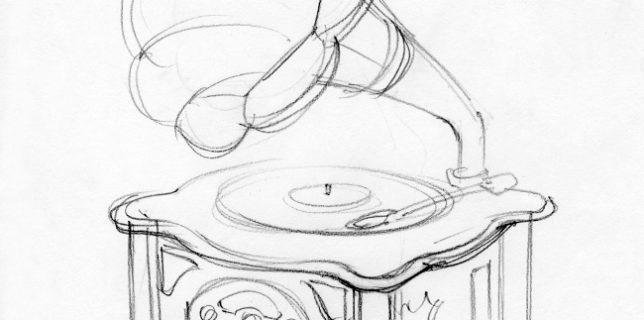 Ретро-дизайн Граммофон с MP3