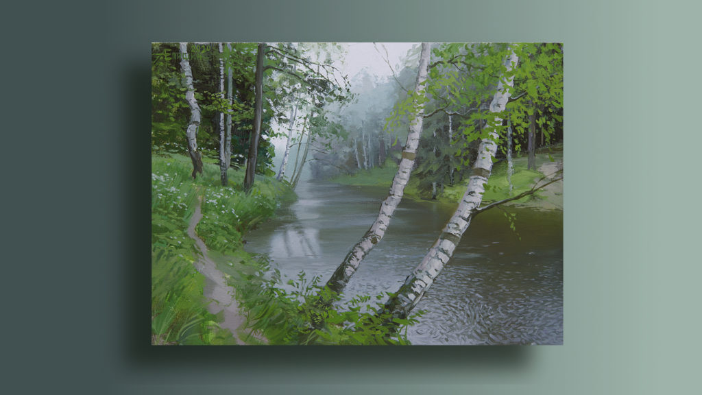 000 Живопись маслом_как художники рисуют дождь