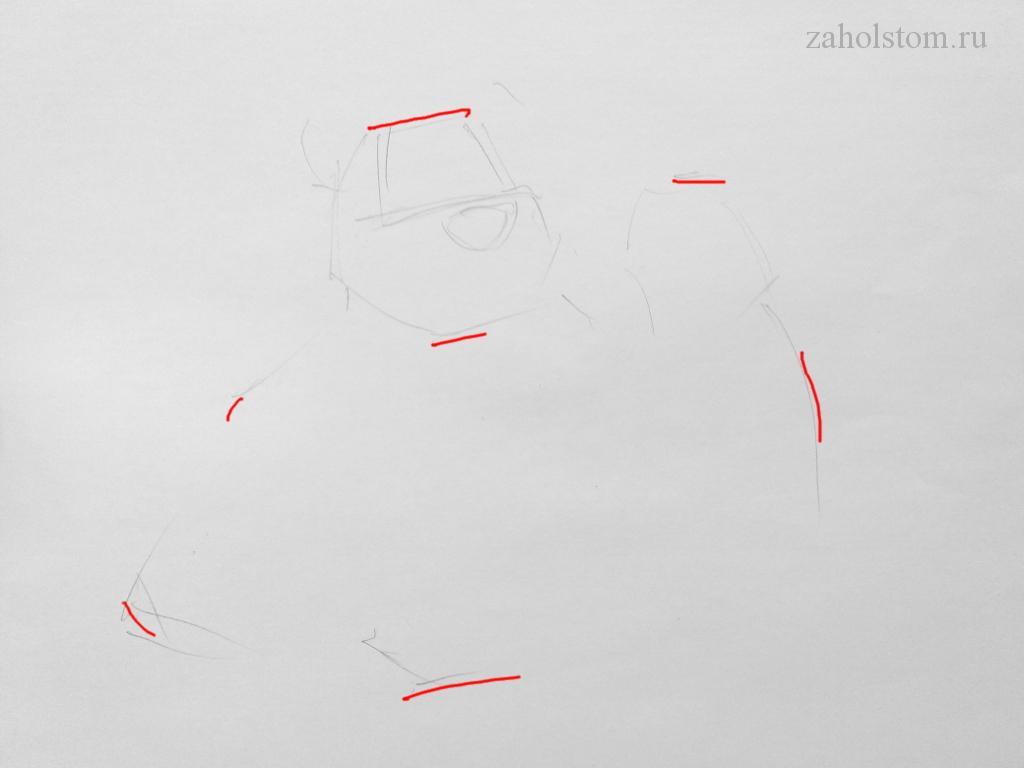 000_1 Маша и Медведь. Поэтапный рисунок карандашом