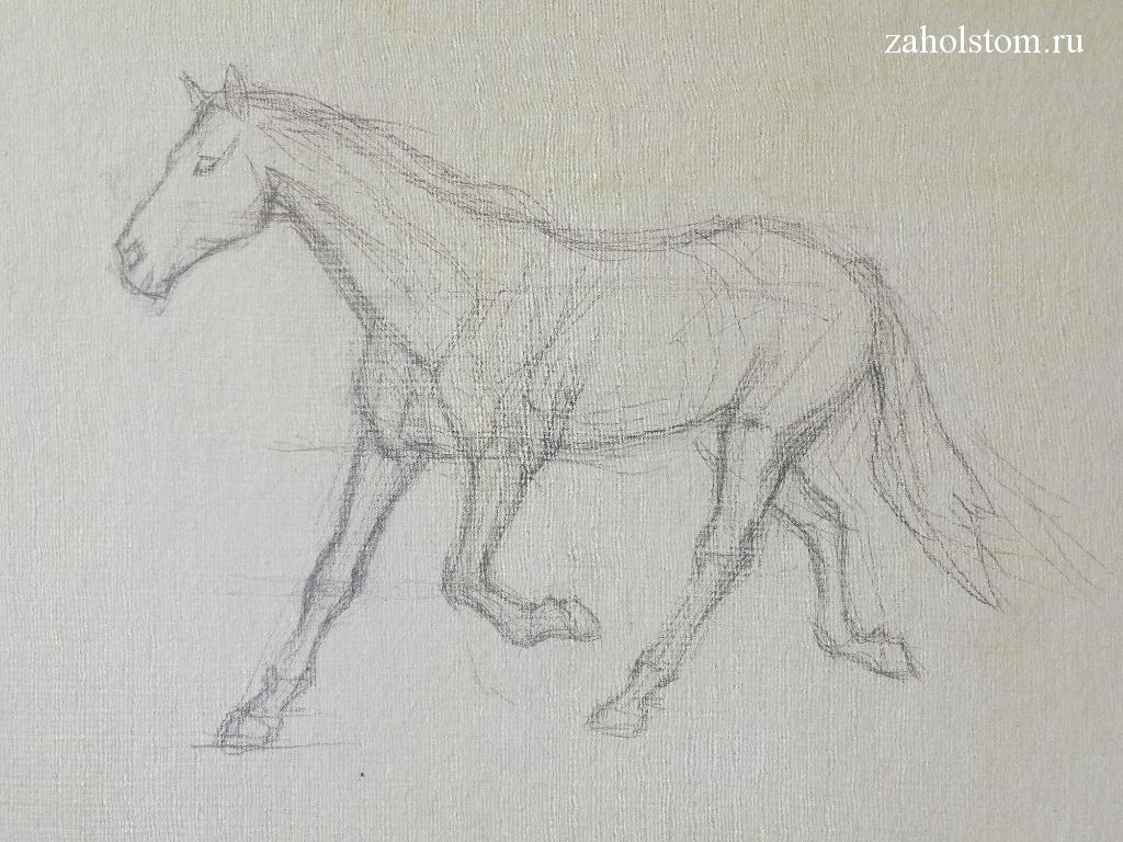 001 Как рисовать лошадь. Алексей Епишин