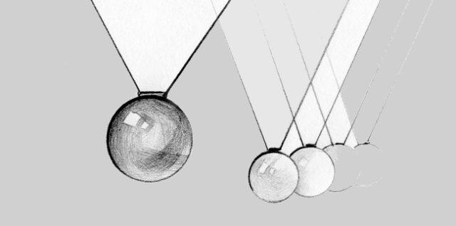 001 Колыбель Ньютона как произведение искусства