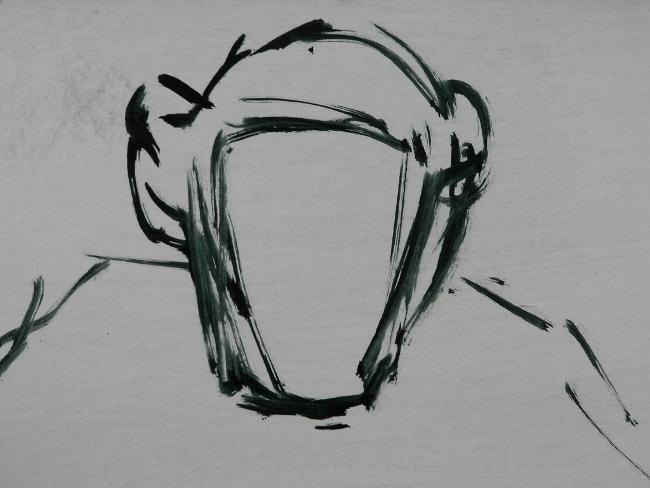 001 Портрет шимпанзе. Живопись маслом. Художник Алексей Епишин