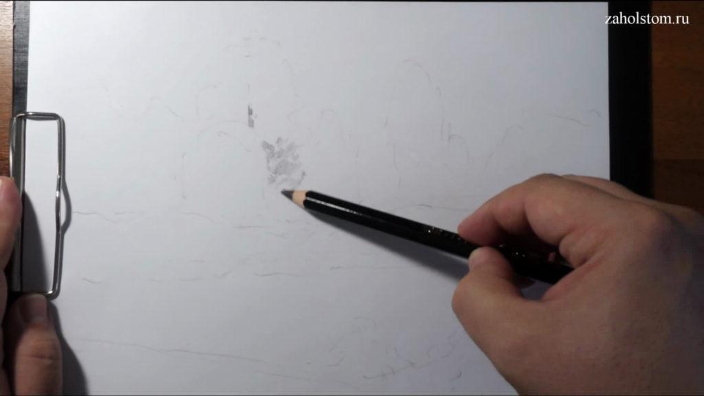 001 Фокусы со штрихом. Рисунок карандашом