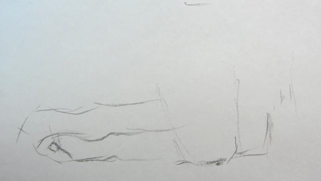 002 Взгляд молчаливого пса. Рисунок углем