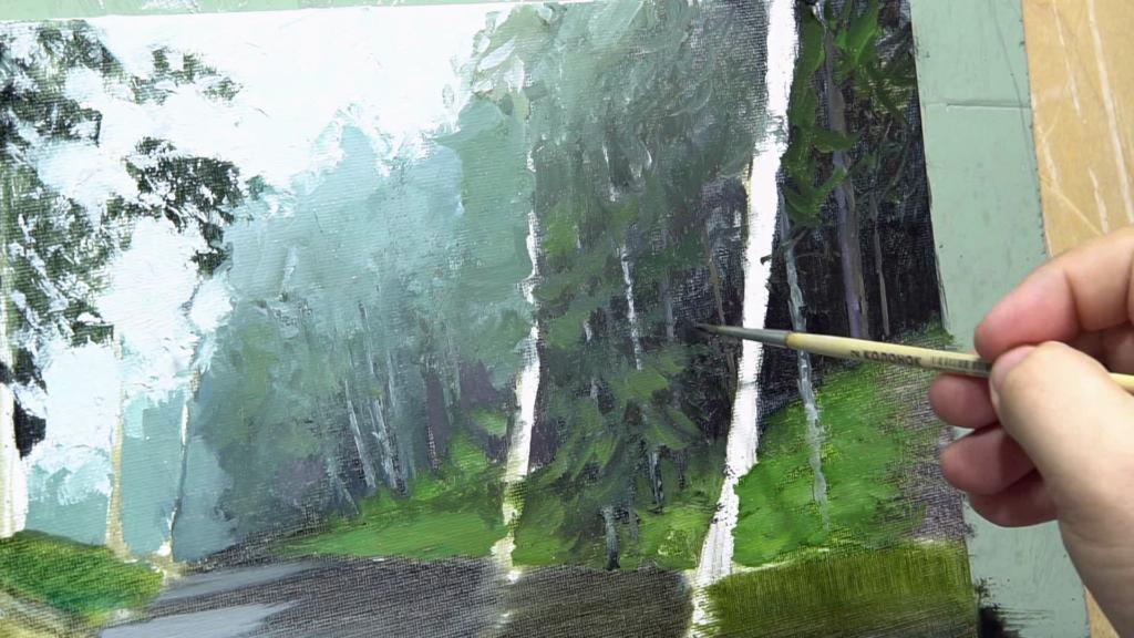 002 Живопись маслом_как художники рисуют дождь