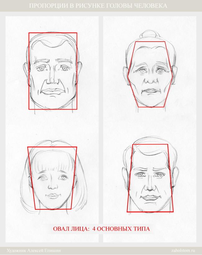 002 Пропорции в рисунке головы человека