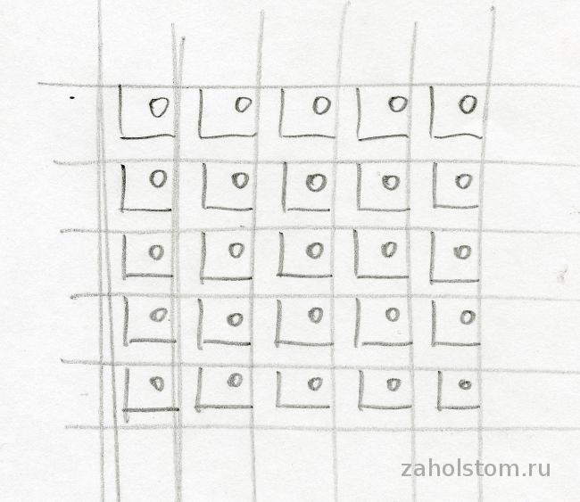 002 Сетчатый орнамент