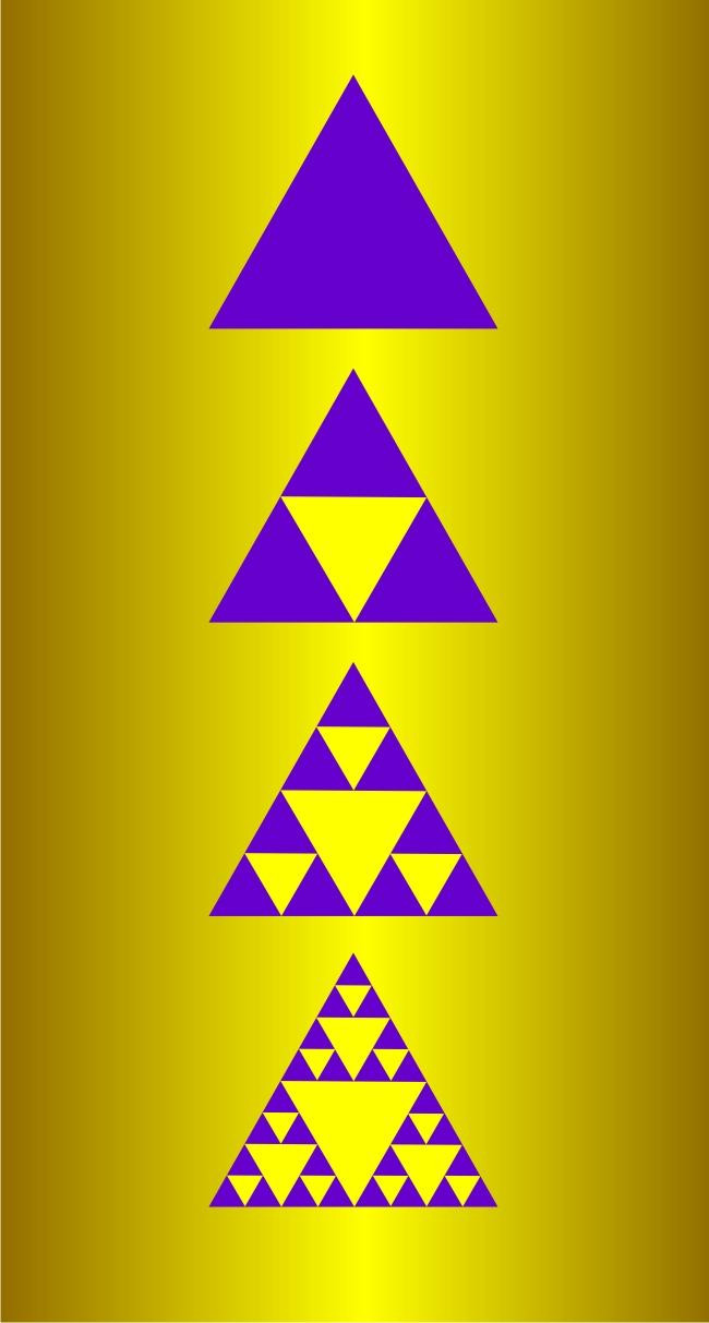 002 Треугольник Серпинского построение