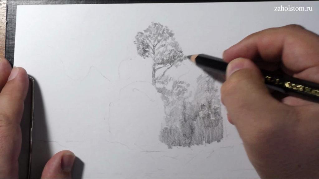 002 Фокусы со штрихом. Рисунок карандашом