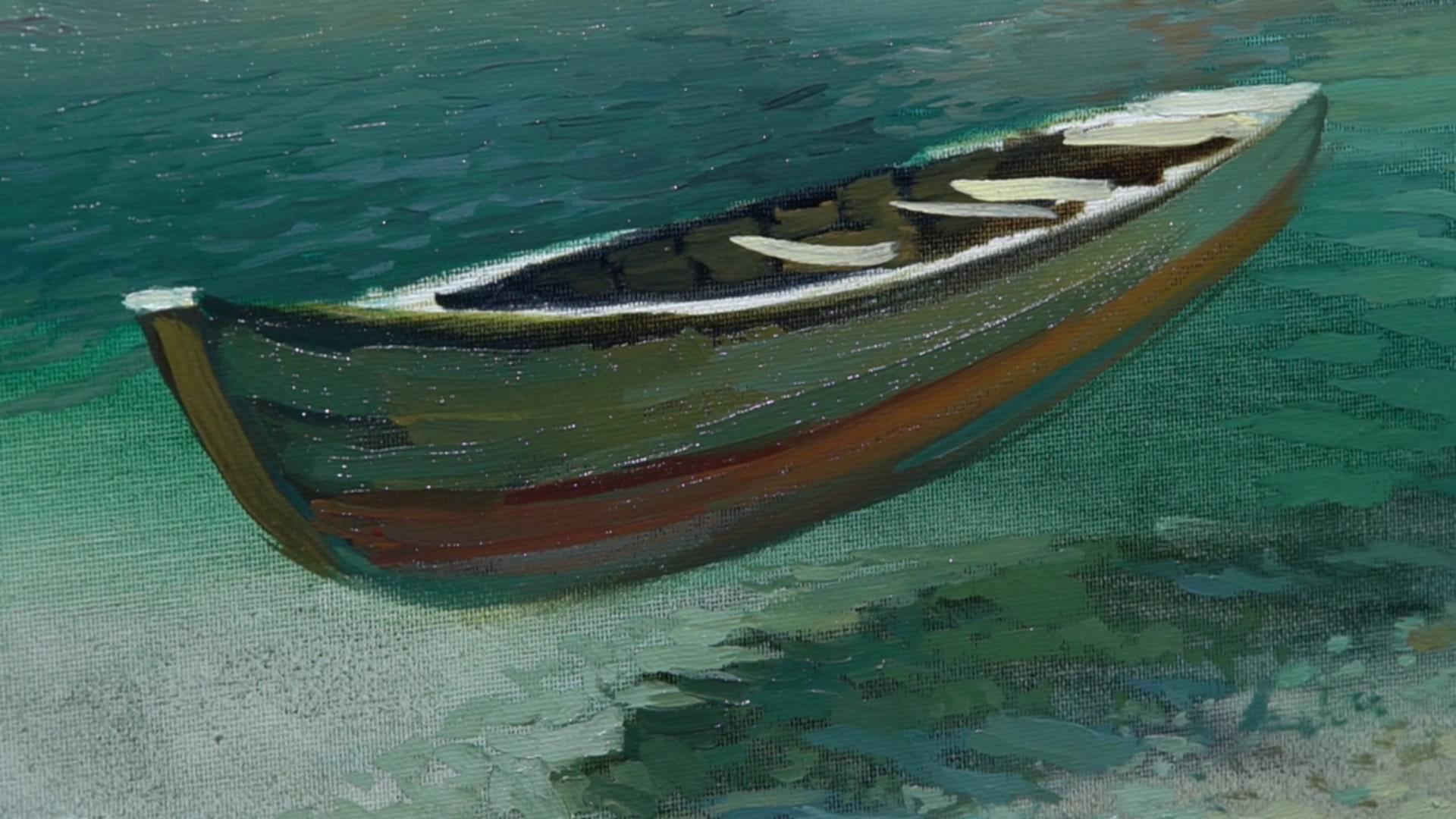 003 Живопись маслом_Летающая лодка