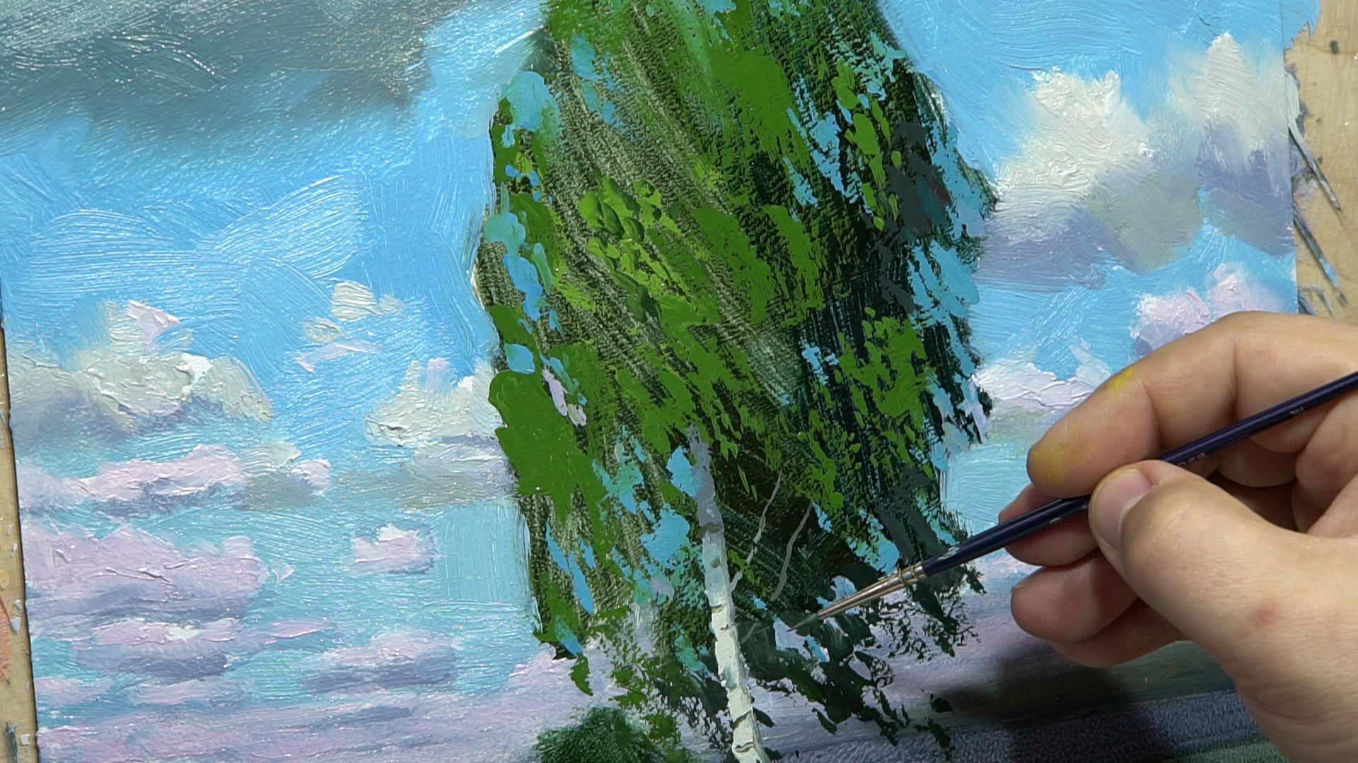 003 Живопись маслом_передаю прозрачность воды