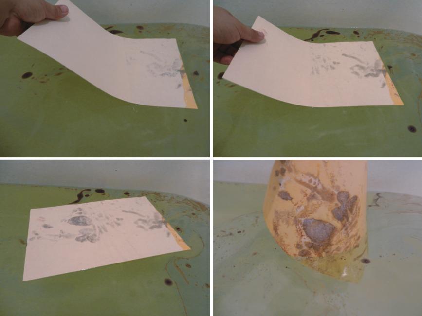 003 Монотипия на воде-имитация мрамора