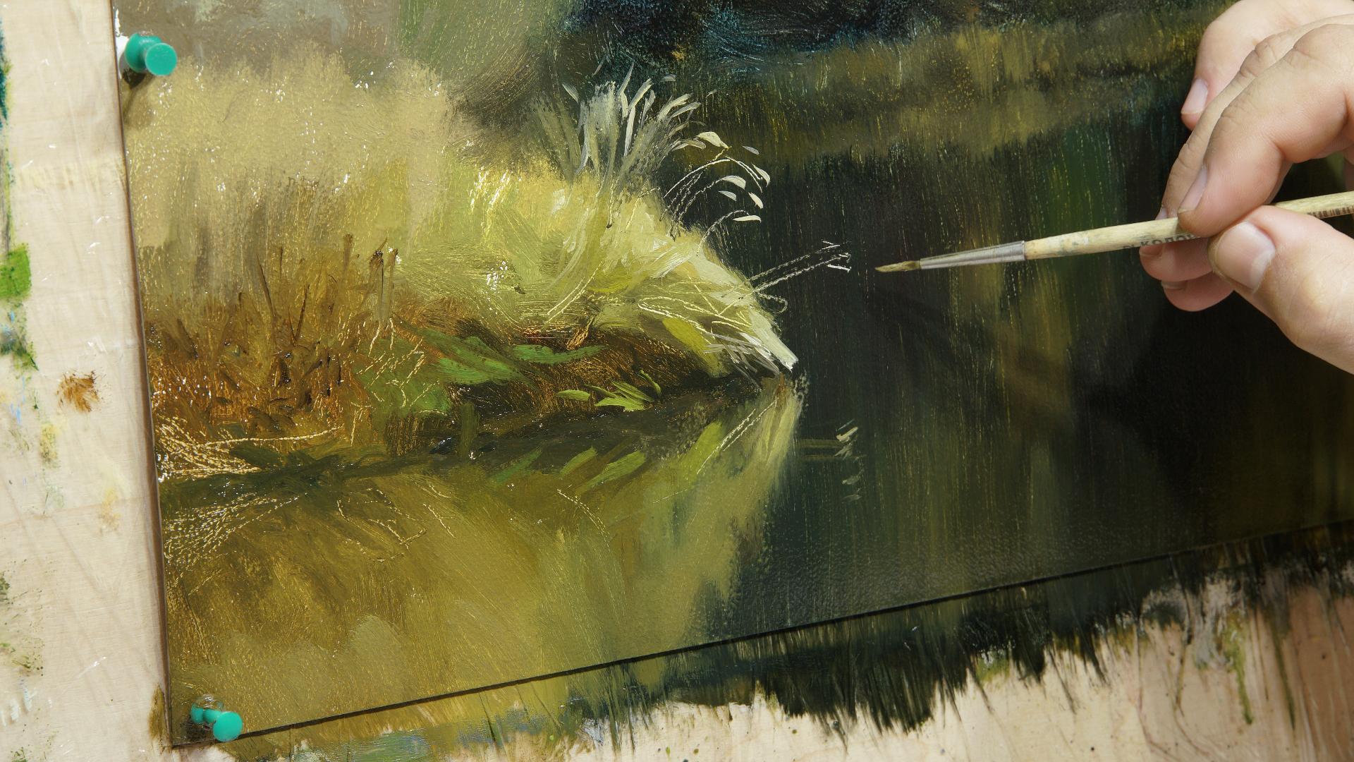003 Размывка в живописи