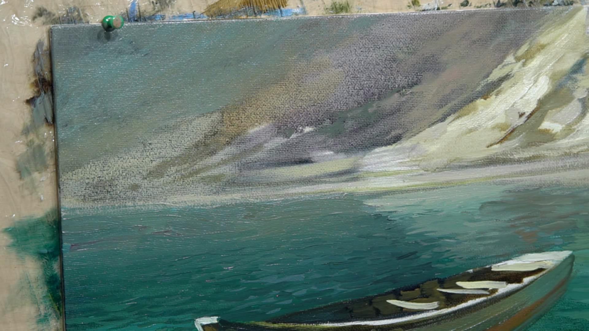 004 Живопись маслом_Летающая лодка