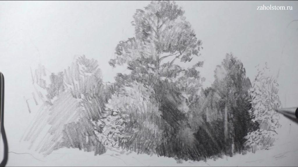 004 Фокусы со штрихом. Рисунок карандашом
