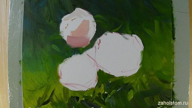 005 Живопись маслом. Розы в лучах солнца