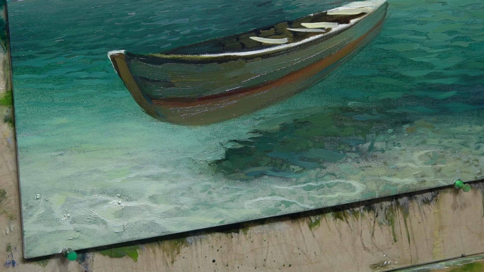 005 Живопись маслом_Летающая лодка