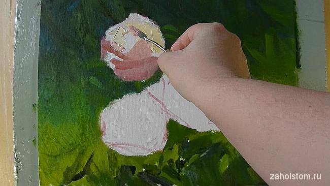 006 Живопись маслом. Розы в лучах солнца