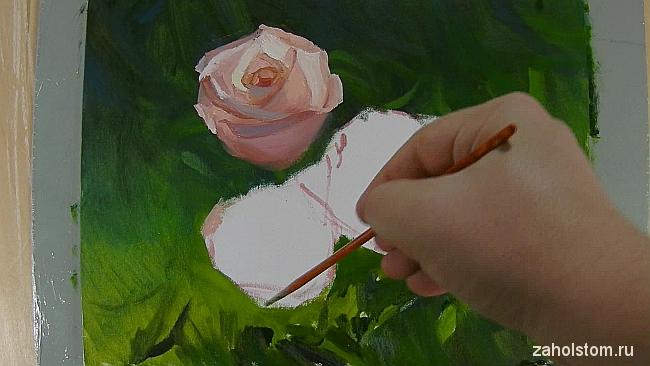 007 Живопись маслом. Розы в лучах солнца