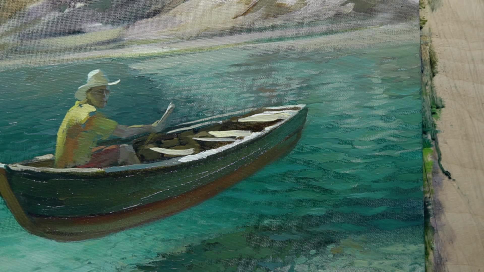 007 Живопись маслом_Летающая лодка