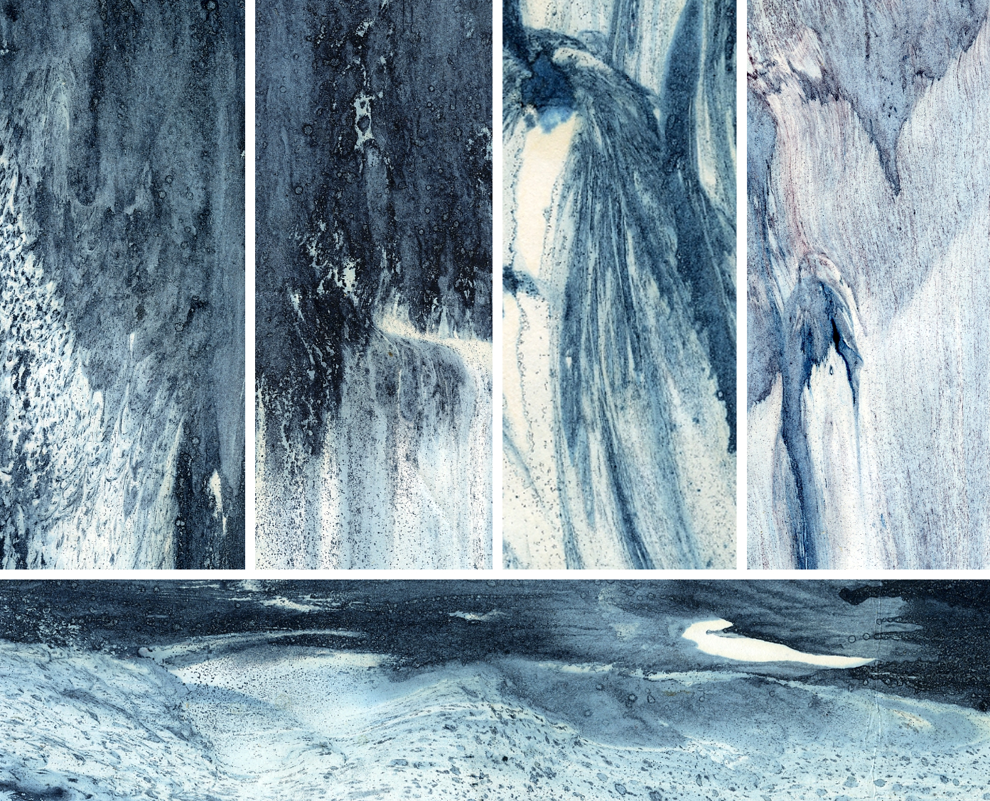 007 Монотипия на воде-имитация мрамора