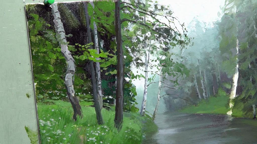 008 Живопись маслом_как художники рисуют дождь