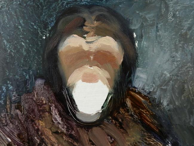 008 Портрет шимпанзе. Живопись маслом. Художник Алексей Епишин