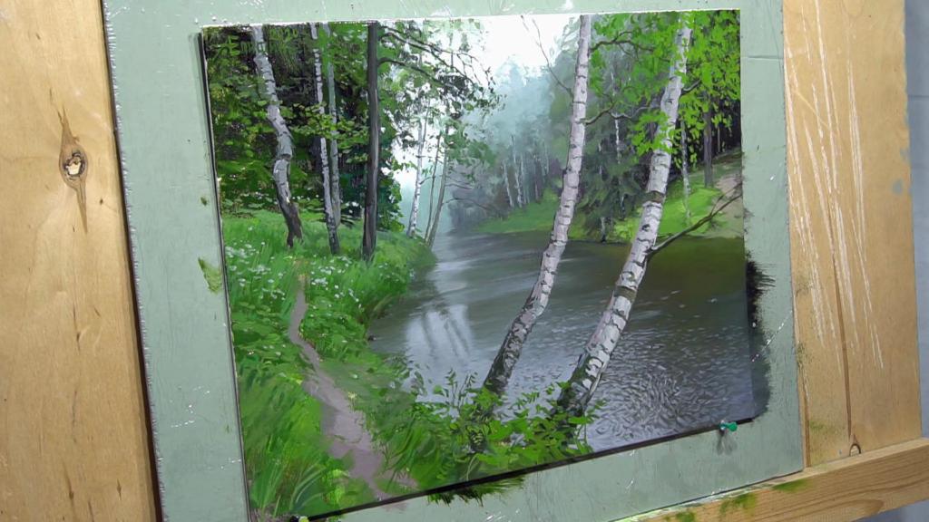 009 Живопись маслом_как художники рисуют дождь