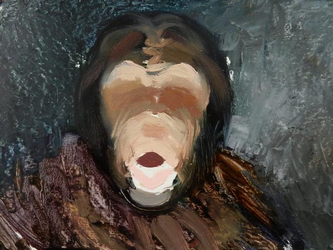 009 Портрет шимпанзе. Живопись маслом. Художник Алексей Епишин