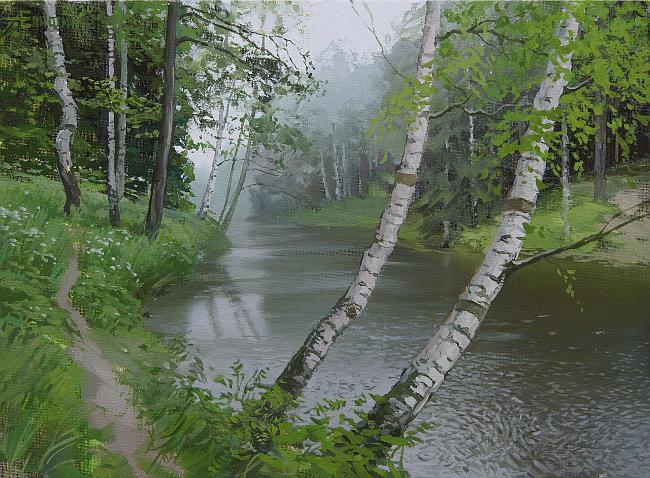 010 Живопись маслом_как художники рисуют дождь