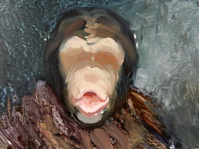 010 Портрет шимпанзе. Живопись маслом. Художник Алексей Епишин