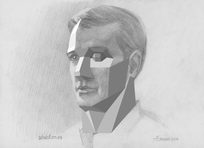 011 Как рисовать портрет. Сопоставление обрубовки и рисунка головы карандашом
