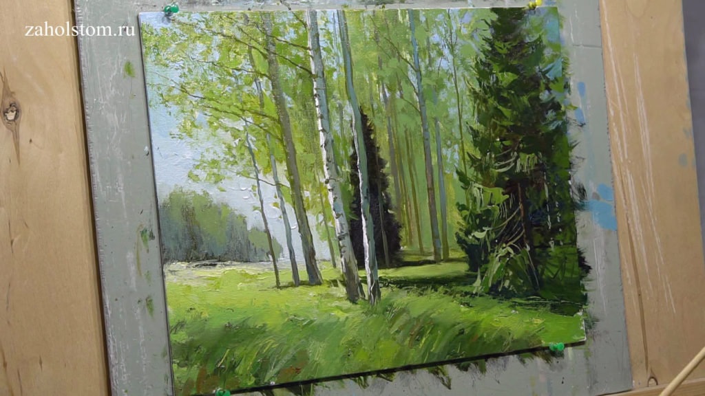 011 Уютный лес. Живопись маслом