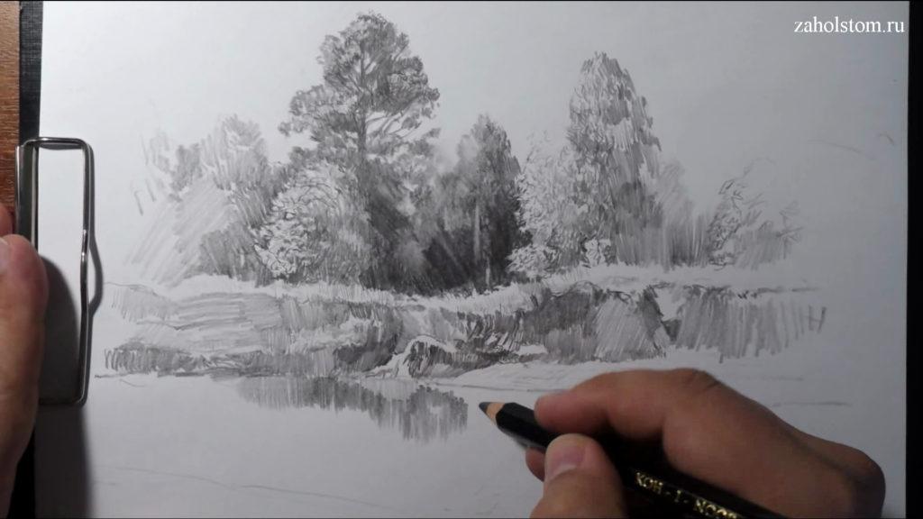 011 Фокусы со штрихом. Рисунок карандашом