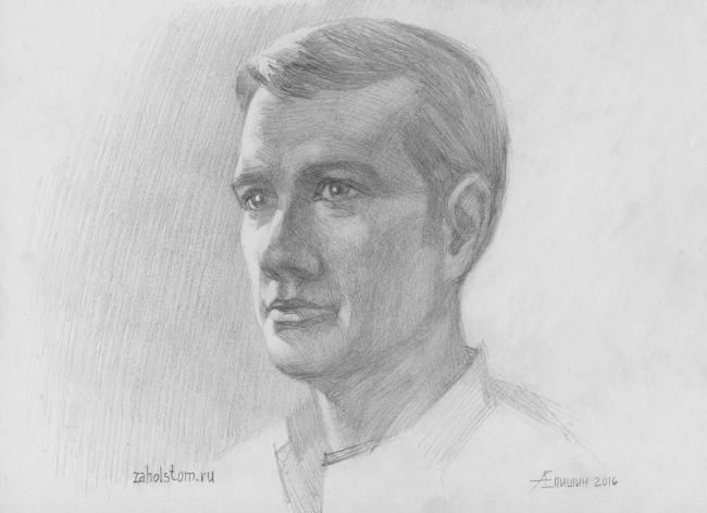 012 Как рисовать портрет. Рисунок головы человека карандашом