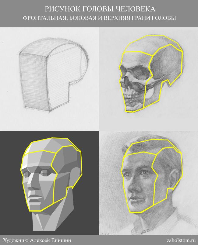 013 Как рисовать портрет. Грани головы