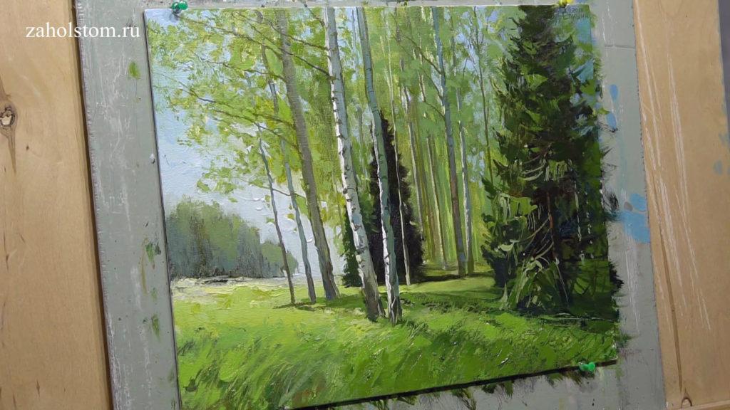 013 Уютный лес. Живопись маслом