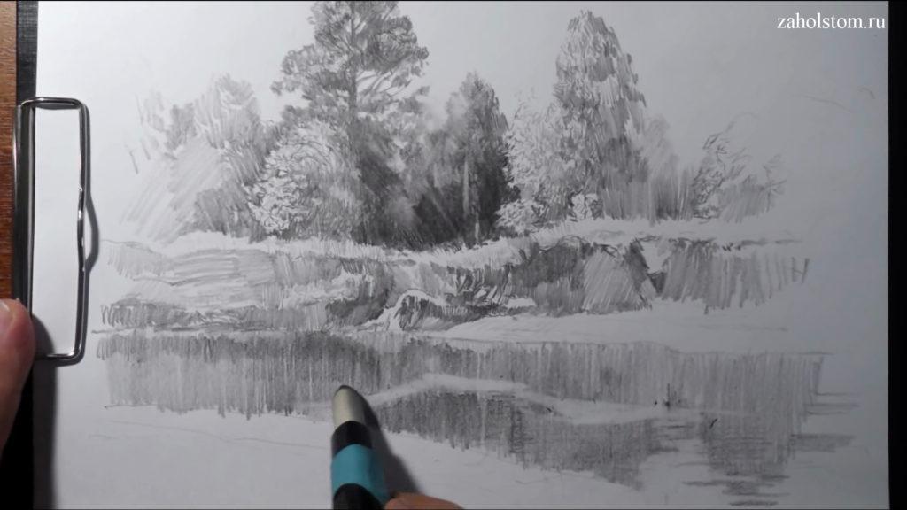 013 Фокусы со штрихом. Рисунок карандашом