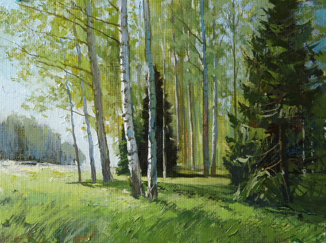 014 Уютный лес. Живопись маслом