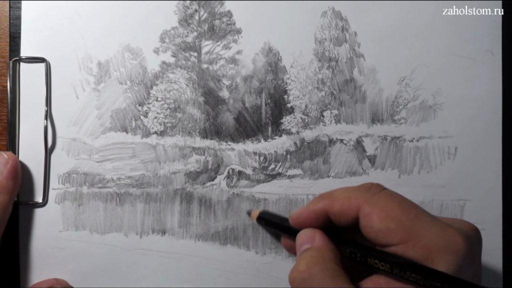 014 Фокусы со штрихом. Рисунок карандашом