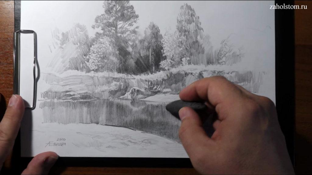 015 Фокусы со штрихом. Рисунок карандашом