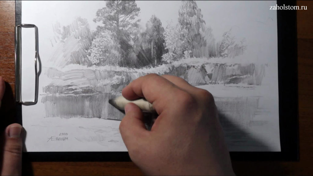 016 Фокусы со штрихом. Рисунок карандашом
